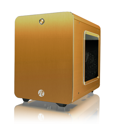 Raijintek Metis Plus Aluminium Mini-ITX Case - Gold Window