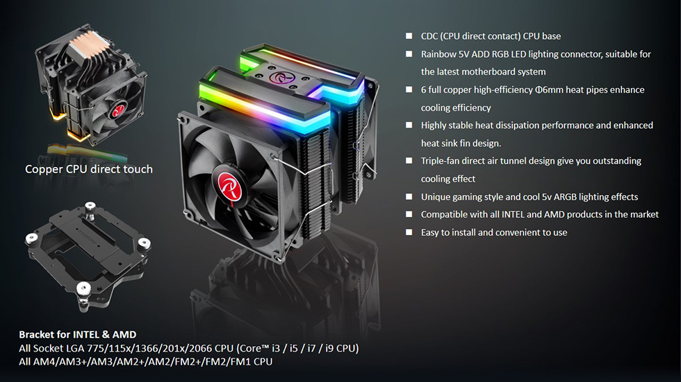 Raijintek DELOS RBW CPU Air Cooler